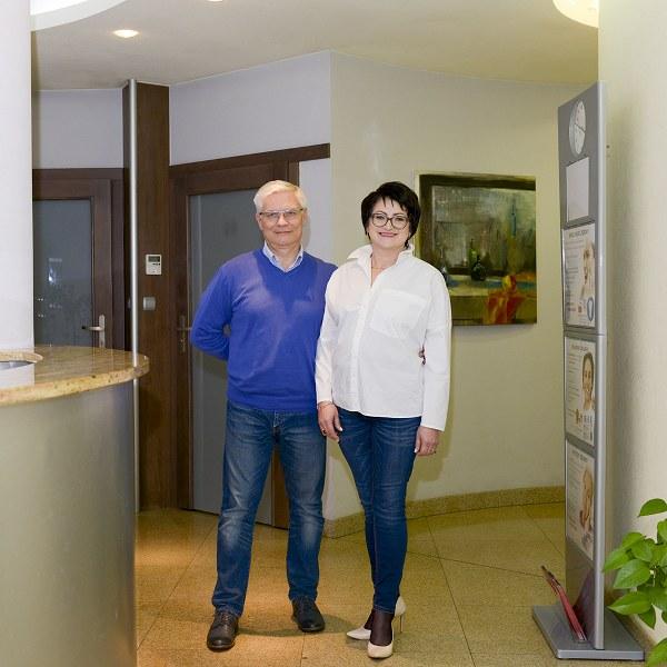 Właściciele kliniki - dr Krystyna i dr Arkadiusz Garbaciak.